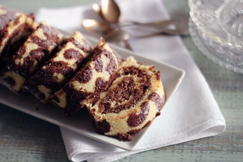 Rulltårta med chokladmousse