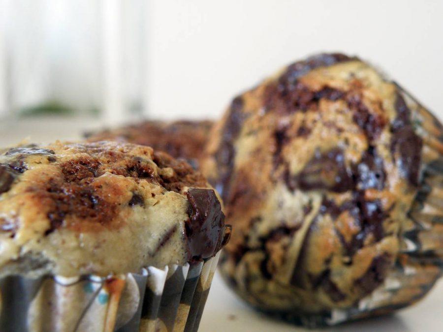 Banan, choklad, cheesecake Muffins 02