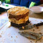 Brownie, cheesecake och morotstårta