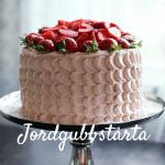 Randig jordgubbstårta