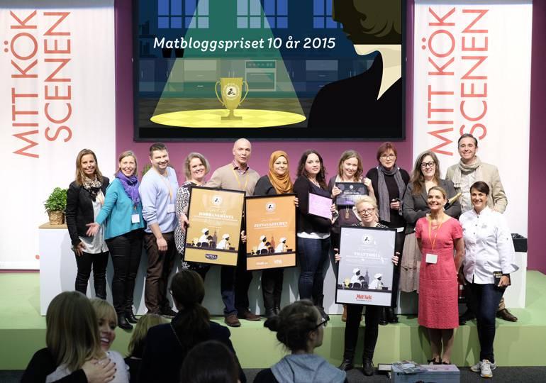 Vinnare av Matbloggsprisets kategorier 2015
