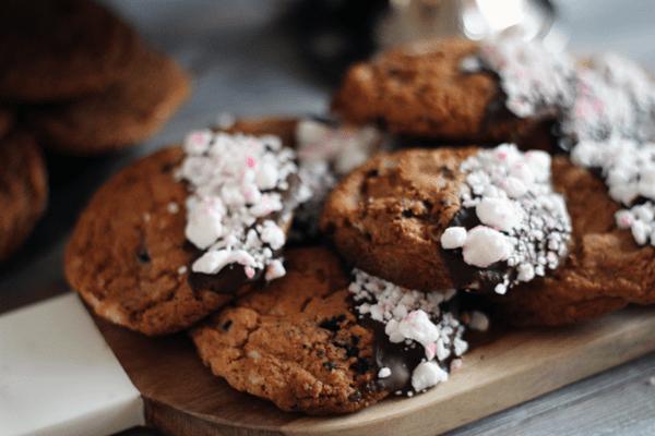 cookies med polkagris och oreos