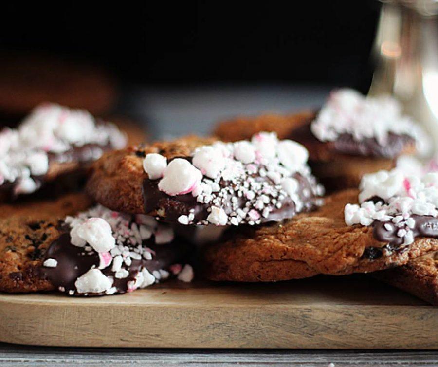 7 julkakor, peppermint cookies