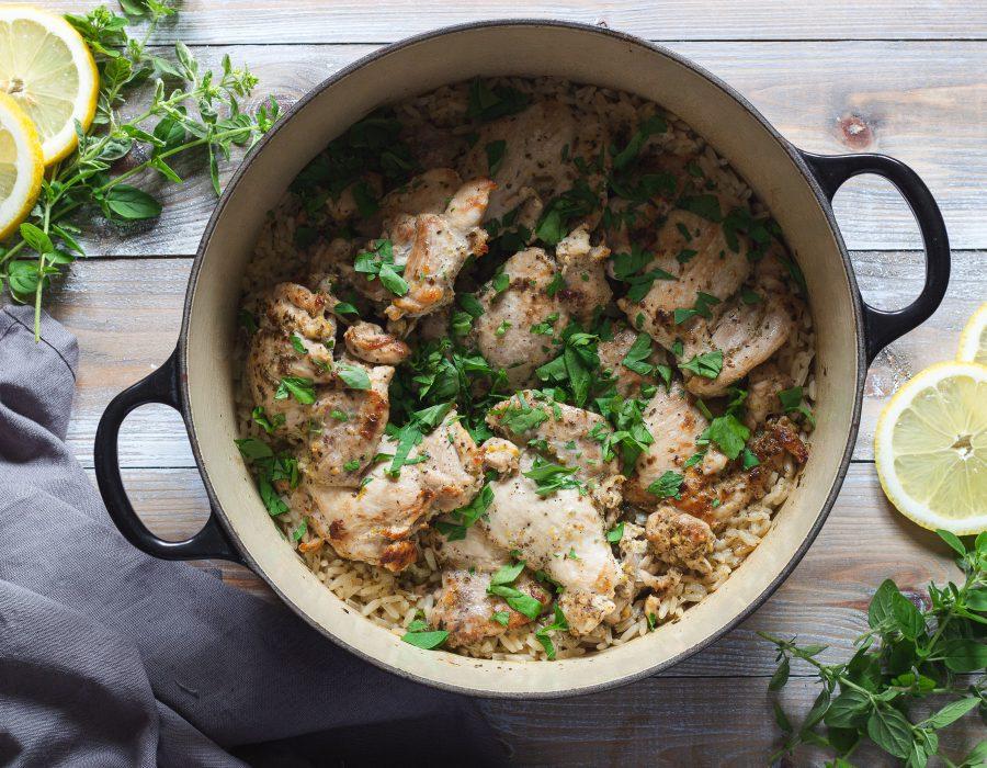 kyckling med ris i gryta